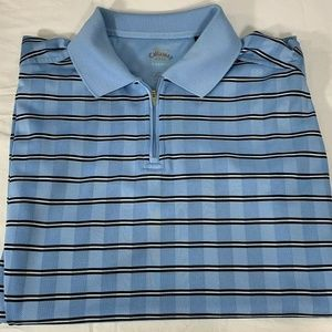 Callaway XL Half Zip Polo Mens Blue